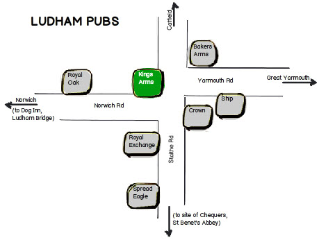 Ludham pubs map