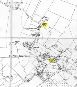 Great Eversden closed pubs map
